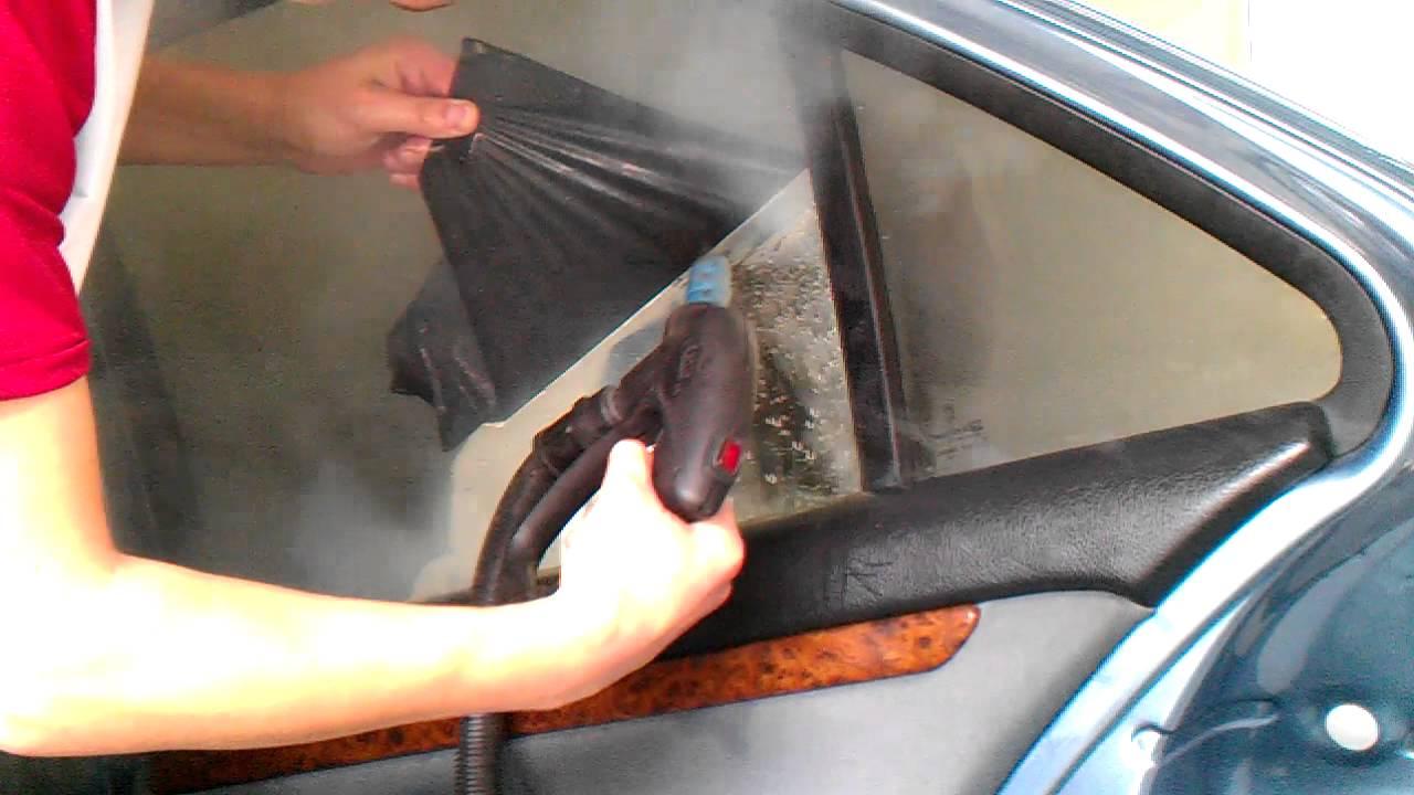 Как самому снять тонировку со стекол авто?