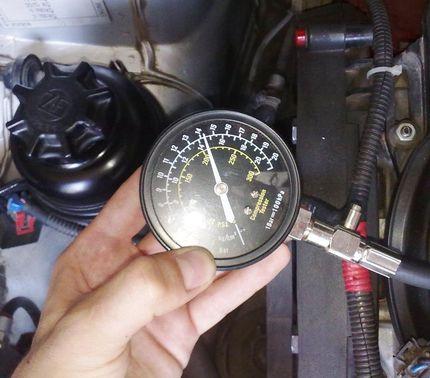 Компрессия на горячем двигателе
