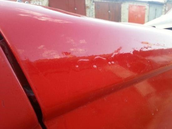 Убираем потеки после покраски авто