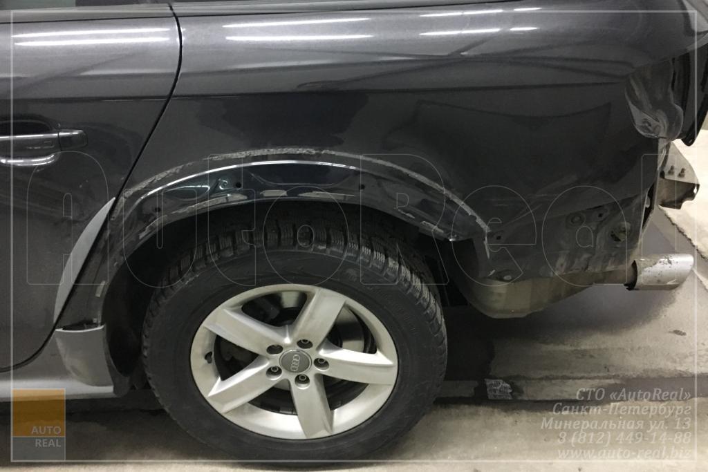 покраска авто Audi Ремонт заднего крыла и окрас Audi A4 allroad в СПБ