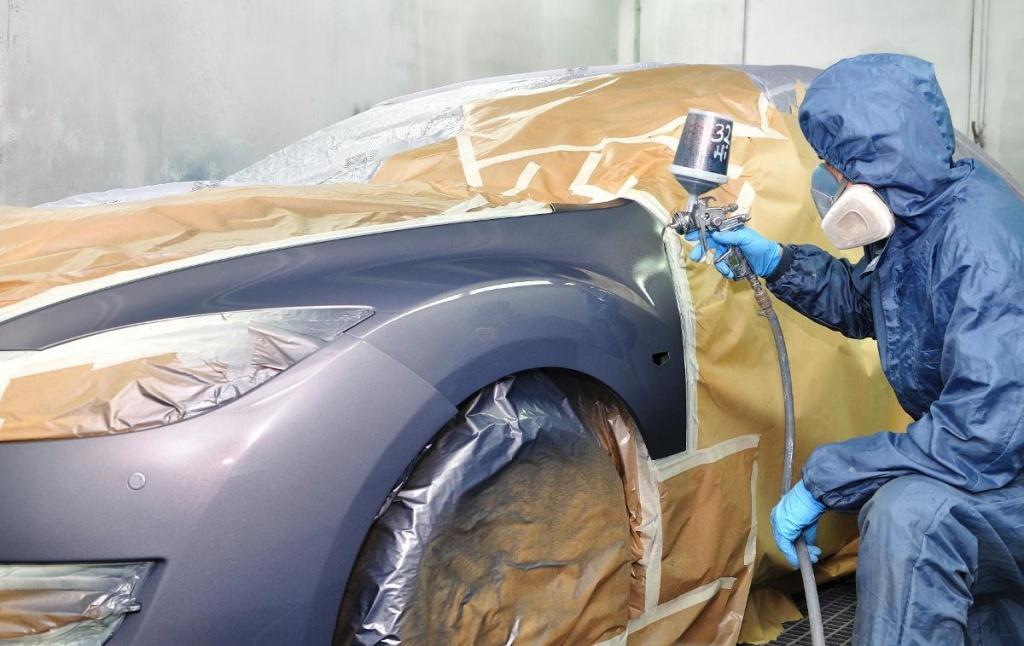 Покраска кузовных элементов авто